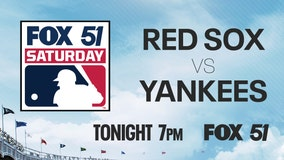 Boston Red Sox visit the New York Yankees Saturday night on FOX 51