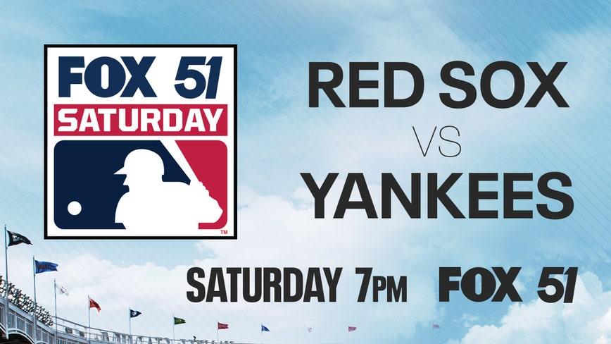 Boston Red Sox visit the New York Yankees Saturday night on FOX 51
