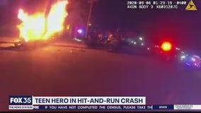 Teen hero in hit-and-run crash