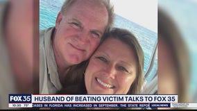 Husband of beating victim talks to FOX 35