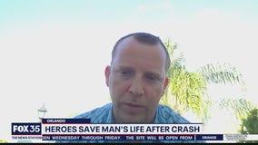 Heroes save man's life after crash