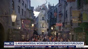5,400 Universal workers put on extended furlough