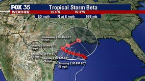 Tropical Storm Beta expected to become hurricane before landfall
