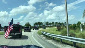 Car parade to support President Trump goes through I-4 in Orlando, video shows