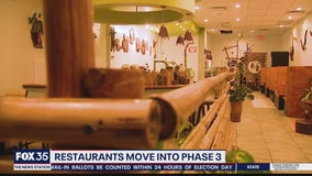 Some restaurants move into Phase 3 while others wait