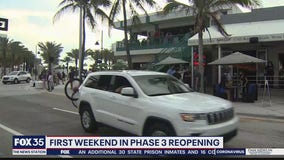 First weekend of Phase 3 reopening