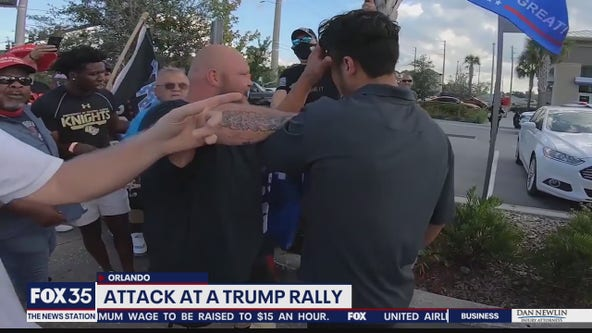 Trump supporter said he was attacked