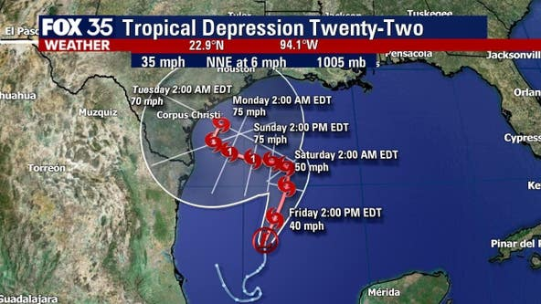 Tropical depression in the Gulf could strengthen into CAT 1 hurricane