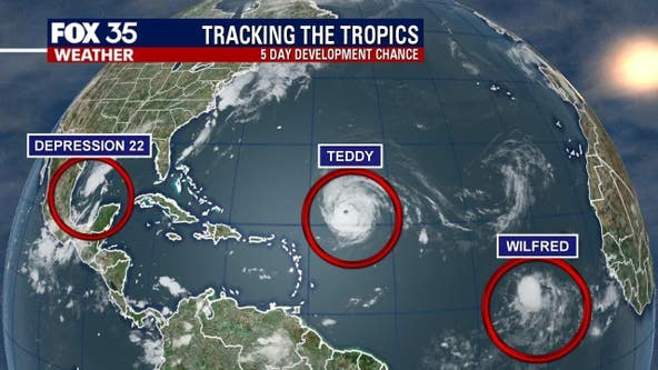 Tropical Storm Wilfred forms in the Atlantic, next named storm to be called Alpha