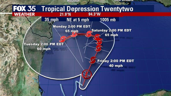 Tropical depression forms in the Gulf, could become Wilfred