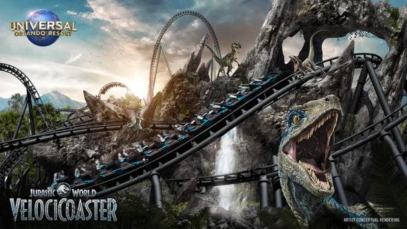 Universal Orlando's Jurassic World VelociCoaster opening in 2021