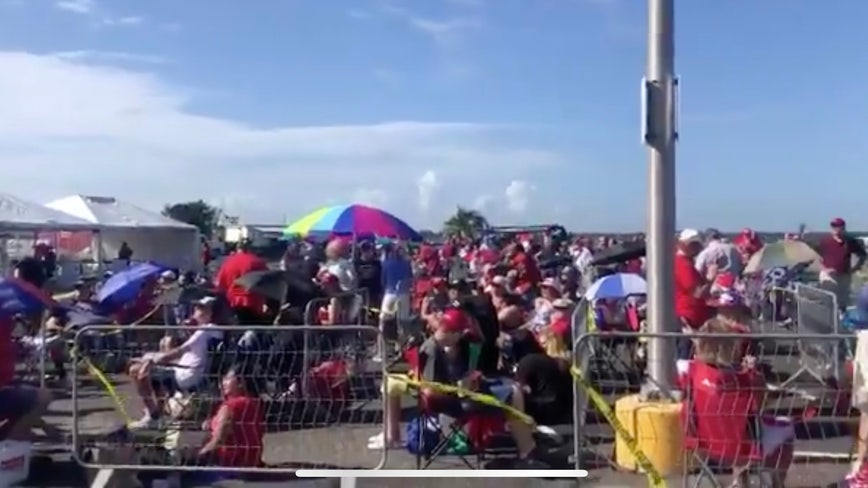 Trump supporters line up hours ahead of Florida rally on Thursday