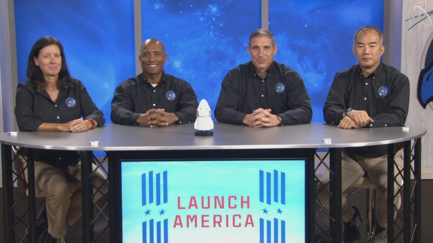 'Resilience': Astronauts name vehicle for next manned mission
