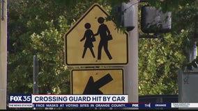 School crossing guard hit by car