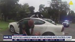 Man arrested after ramming into patrol car, deputies say