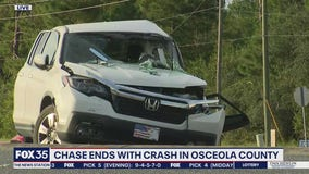 Chase ends with crash in Osceola County