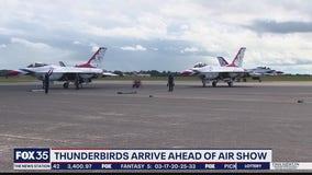 Thunderbirds arrive ahead of air show