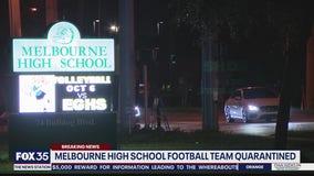 Melbourne High School football team quarantined