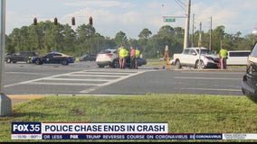 Police pursuit out of Tampa ends with crash in Osceola County