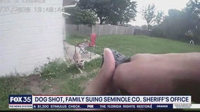 Family suing after deputy shoots pet dog