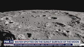 Water spotted inside crater on sunlit side of Moon