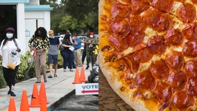 Stuck in a long voting line? This nonprofit will deliver pizza to you