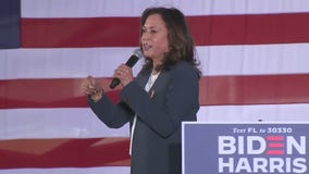 Vice Presidential candidate Kamala Harris visits Orlando for early voting rally