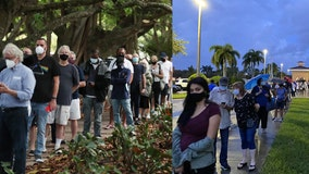 Long lines spotted as 1st day of early voting in Florida begins