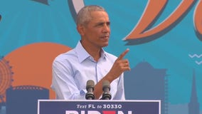 Former President Obama campaigns for Biden in Orlando on Tuesday