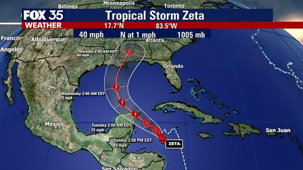 Tropical Storm Zeta forms, expected to strengthen into hurricane