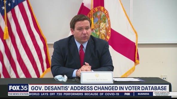 Man accused of changing voting address of Gov. DeSantis