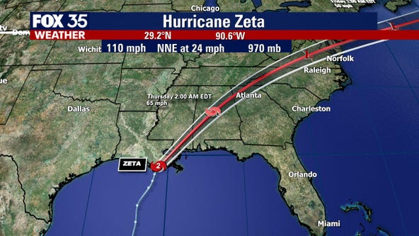Category 2 Hurricane Zeta crashes ashore in storm-weary Louisiana
