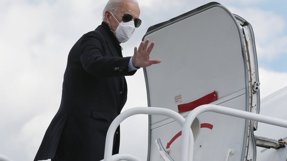 cd9d3ae9-Joe Biden Travels To Michigan To Campaign For President