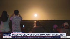 Massive crowds come to watch launch