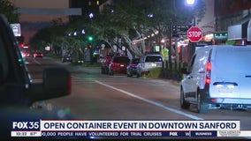 Open container event in Downtown Sanford