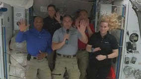 Crew-1 astronauts speak from the International Space Station