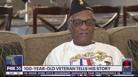 100-year-old veterans shares WWII story