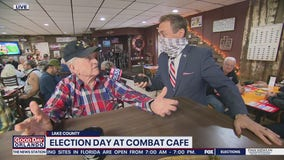 David Martin Reports: Election Day at Combat Cafe