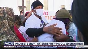 Protests erupt after deputy-involved shooting