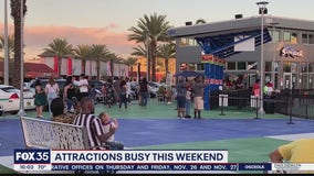 Attractions busy this weekend with tourists