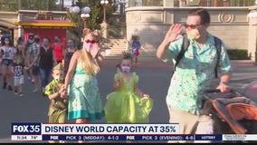 Disney World capacity rising to 35%