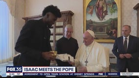 Isaac, other NBA players meet with Pope Francis
