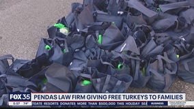Pendas Law Firm gives out turkeys