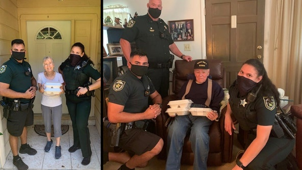 Central Florida deputies deliver hot Thanksgiving meals to residents