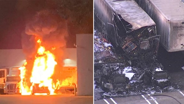 Brooksville Walmart reopens after explosion, fire involving tractor-trailers