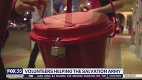 Volunteers helping the Salvation Army
