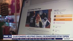 Customers helpnig small businesses stay open