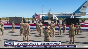 Two Air Force bases renamed as Space Force facilities