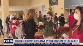 Churches hold Christmas Eve services with safety measures
