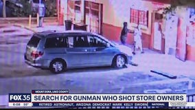 Search for gunman who shot store owners